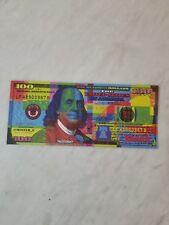 TWO Mister E Benny Jr 100 Bill Art Warhol Banksy Obey Shepard Alec Monopoly Kaws