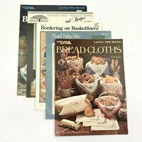 5 Bread Cloth & Bibs Cross Stitch Christmas Kitchen Leisure Arts & Assorted