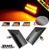 Paar Dynamische Seitenblinker Schwarz LED Für VW  Multivan T5 LH*