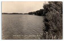 1923 RPPC North Twin Lake, Amery, WI Real Photo Postcard