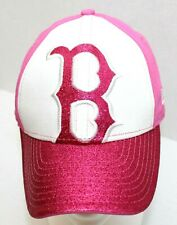 BOSTON RED SOX NE 9Fifty Adjustable Velcro Pink Cap Size Youth~New without Tags