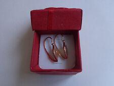 Vintage Soviet Rose Gold Rhombus Earrings 14K 583 Star and Hammer Russian USSR