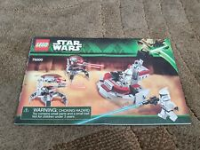 LEGO INSTRUCTION MANUAL ONLY from set 75000 Clone Troopers vs Droidekas