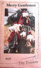 "Tiny Treasures ""Merry Gentlemen"" Vintage Doll Pattern 4 Sizes Of Santas"