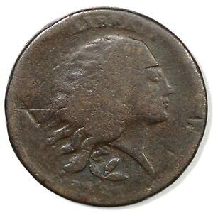1793 S-6 R-3 Vine & Bars Edge Wreath Large Cent Coin 1c