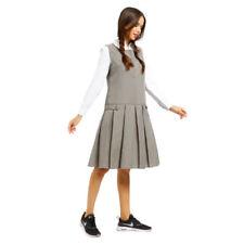 Vêtements habillés gris coton mélangé pour fille de 2 à 16 ans