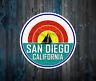 """San Diego California Vinyl Sticker Decal 3"""" x 3"""" Ocean Sailboat Beach"""