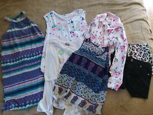 Mixed Lot Of Girls Size 10 Dress Shorts Shirts