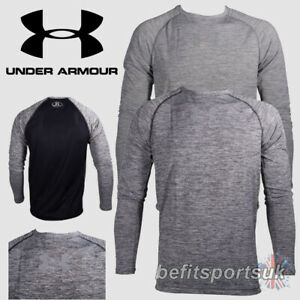 UNDER ARMOUR MENS DFO MILEAGE LONG SLEEVE FITNESS RUNNING GYM TOP JERSEY GREY