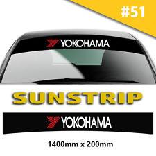 Sunstrip YOKOHAMA RECING RECING ADESIVI auto decalcomanie strisce PARABREZZA
