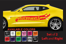 Large Hot Wheels Flames Car Body Vinyl Sticker Decals - Set of 2 - Left Right GB