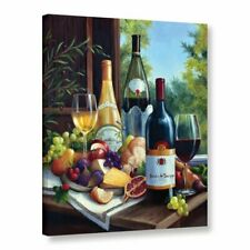 Still Life with Wines Graphic Art on Wrapped Canvas