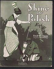 Shine or Polish Rag 1914 Large Format Sheet Music