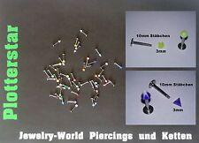 Universale Piercing-Stecker aus Edelstahl