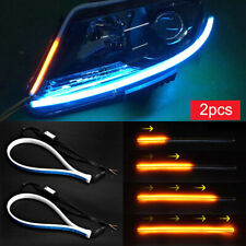 60CM Ultra Thin Car Soft Tube LED Strip Daytime Running Lamps Turn Signal Light