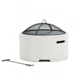 Lifestyle Adena MGO round firepit with grill - LFS707