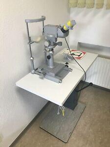 LEITZ Irismikroskop mit Hubtisch