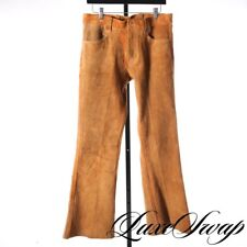 RARE Original 1960s East West Musical Instruments Bellbottom Suede Leather Pants