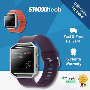 Fitbit Blaze Smart Fitness Watch, Silver, Gold, Red, Purple