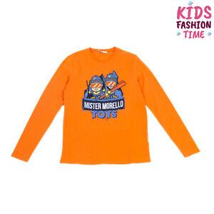FRANKIE MORELLO TOYS T-Shirt Top Size 14Y Printed Logo Long Sleeve Crew Neck