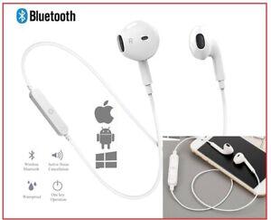 Wireless Earphones Sports In-Ear Bluetooth 4 Stereo Headphones +Mic for iPhone +