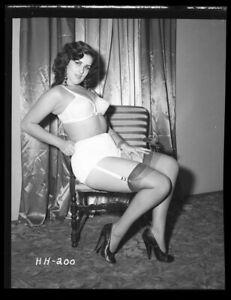 Irving Klaw Burlesque Glamour Model Underwear Pin Up Original Camera Negative