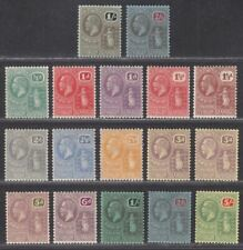 British Virgin Islands 1922 KGV wmk Script CA Part Set to 5sh Mint