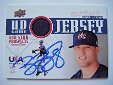 BRYCE BRENTZ signed RED SOX 2009 Upper Deck USA Jersey baseball card AUTO GJU-23