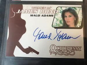 Women of Bond Maud Adams signed trading card Rittenhouse 2003 mint