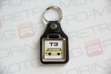 VW T3 Keyring - Leatherette Retro Classic Car Auto Keytag - Vanagon Wedge T25