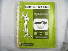 Ih International 433 Pay Scraper Service Manual Chassis Sm433 1973