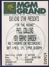 Phil Collins MGM Grand Ticket Stub April 19 1997 Free Shipping