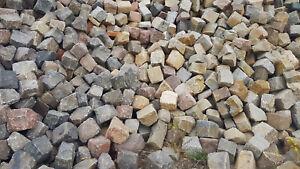 Natursteinpflaster gebraucht, rustikal, bunt, 25 t ab Baustelle