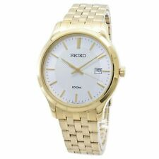 Seiko SUR296 Neo Classic 41MM Men's Gold-Tone Stainless Steel Watch