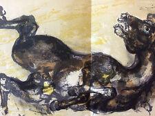 Walter Spitzer lithograhie double cheval  Les Noyers de l'Altenburg Malraux