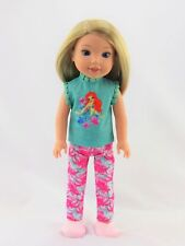"""Little Mermaid Top & Pants Fits 14.5"""" Wellie Wishers American Girl Doll Clothes"""