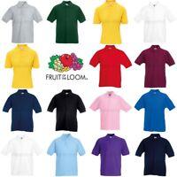 Fruit of the Loom Boys Girls 65/35 Pique Polo Shirt