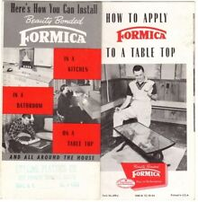How To Apply Formica To A Table Top 1954  7 fold brochure