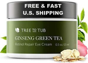 ORGANIC Eye Cream pH 5.5 Hyaluronic Acid Ginseng Green Tea Retinol ANTI-AGING