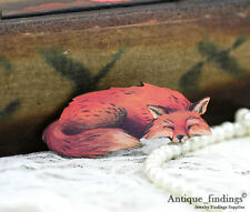 4pcs Vintage Fox Handmade Wood Wooden Charms / Pendants HW021D