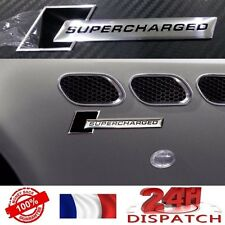 Logo SUPERCHARGED Audi CHROME BLACK - ALUMINIUM S LINE S RS emblem aufkleber sig