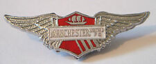 MANCHESTER UNITED Vintage Club crest type badge Brooch pin Chrome 45mm x 16mm