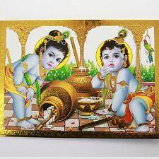 Altarbild Göttin BABY KRISHNA- Prägedruck Indien Hinduismus Bild  28