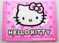 HELLO KITTY SANRIO Tri Fold Pink Wallet Money Travel #E
