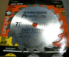 Black decker industrial saw blade ebay black decker piranha carbide circular saw blade 7 14 x 18t greentooth Choice Image