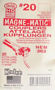 Kadee HO #20 European-Style Mount Knuckle Coupler - Extra-Long Underset