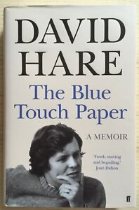 The Blue Touch Paper: A Memoir by David Hare, 2015 - Signed First Edition, Fine
