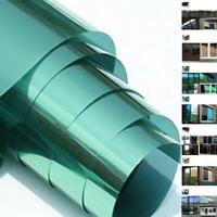 Glass Self Adhesive Film Reflective Mirror Window UV Sun Protection Spy Foil PET