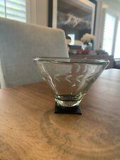 Jan Barboglio Iron & Glass Blown Clear Chalice Bowl