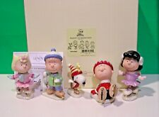 Lenox Peanuts Ice Skating Party Snoopy Linus Sally Charlie Brown New n Box w/Coa